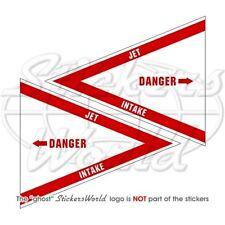"DANGER JET INTAKE USAF US Navy Aircraft 4"" Stickers x2"