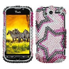 Twin Stars Crystal Bling Hard Case Cover HTC myTouch 4G