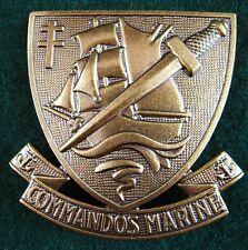 ORIGINAL FRENCH COMMANDOS MARINE BERET BADGE SPECIAL FORCES