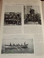 1898 Capitaine Officiers Gladiateur Arpentage Service Marine