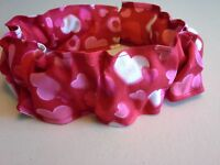 Valentine Hearts Red Dog Collar Cover Scrunchie Custom Made by Linda XS S M L