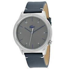 NEW! Lacoste Motion Grey Dial Leather Strap Men's Watch 2010989