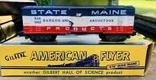 Nicest AMERICAN FLYER #982 STATE OF MAINE BANGOR & AROOSTOOK BOX CAR Boxed Mint