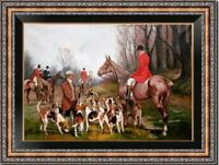 """Old Master-Art Antique Oil Painting Portrait hunting dog aga on canvas 24""""x36"""""""