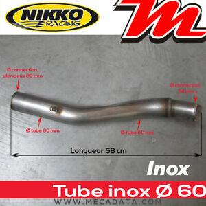 Tube de connexion échappement homologué moto Nikko Racing diamètre 60 mm