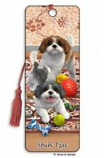 3D Bookmark Shih Tzu Small Dog Lover Gift Him Her Kids Friend Puppy Animal Xmas