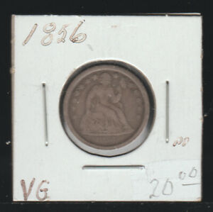 1856 Seated Liberty Dime, VG