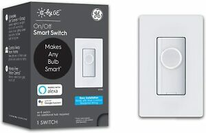 C by GE On/Off Button No Neutral Smart Switch