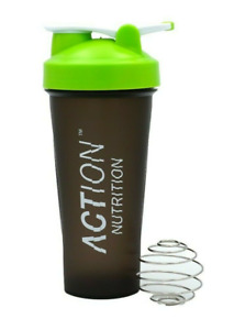 Action Nutrition™ Green Protein Shaker Bottle with Mixing Ball