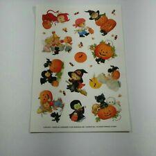 """Teenie Halloweenies"" by Ruth or Bill Morehead Halloween Sticker Sheet 1997"