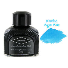 Diamine Fountain Pen Bottled Ink, 80ml - Aqua Blue