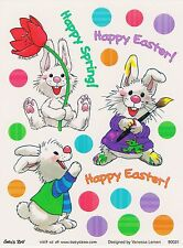 Suzys Zoo Scrapbook Stickers 25 Sheets Happy Spring Easter Bunny Rabbits Flower