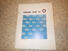 1964.Revue nul = 0.N°4.Herman de Vries.Bischoffshausen