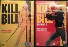 KILL BILL 1 & 2 [One,Two] Quentin Tarantino*Uma Thurman Martial Arts DVD *EXC*