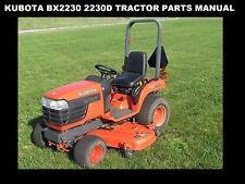 Kubota Bx 2230 Bx 2230 D Parts Manual -260pg of Bx2230D Tractor Service & Repair