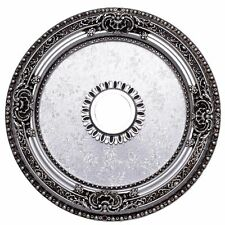 "24"" ROUND PEWTER COLOR CEILING MEDALLION CHANDELIER DINING LIVING ROOM BEDROOM"