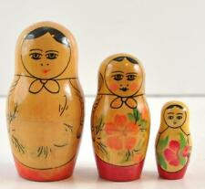 """3 Piece Russian Nesting Doll Collectible 4.5"""" Hand Painted"""