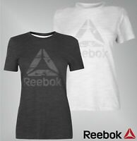 Ladies Genuine Reebok Round Neck Short Sleeves Top Cotton Logo T Shirt Size 6-22