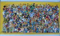 "The Simpsons All Characters Print Matt Groening 20 1/4"" x 37 3/4"""