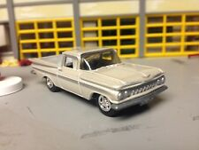 1/64 1959 Chevy Elcamino in Off-White Pearl with Black Int/348 Auto/Rubber Tires