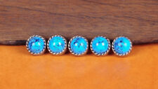 10PCS 10MM TURQUOISE VINTAGE SLIVER FLORAL ROPE LEATHER CRAFT WESTERN CONCHOS