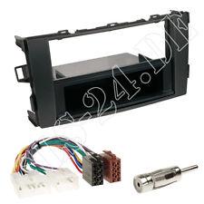 TOYOTA Auris E1 Radioblende Fach schwarz ISO KFZ Anschlusskabel Antenne Adapter