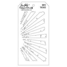 Tim Holtz Layering Stencil Rays THS003 Stampers Anonymous Template