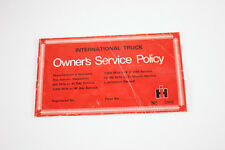 International Truck 1970.s owners service policy book No 2805 nos