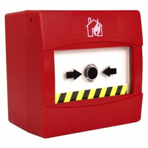 C-Tec Sycall Red Surface Mounting No Break Fire Call Point, 470/680 Ohms (BF370S