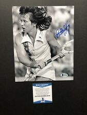 Billie Jean King autographed signed 8x10 photo Beckett BAS COA Tennis Women's