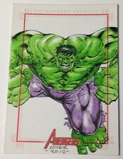 Marvel Avengers 1/1 SketchaFEX Incredible Hulk Sketch Card by Aston Roy Cover