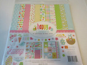 Echo Park Happy Easter 12x12 Collection kit  Spring Bunny  Cards Scrapbooks