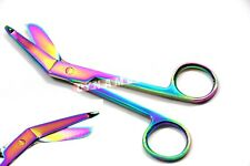 """Premium 1 Lister Bandage Nurse Scissors - 5.5"""" Multi Titanium Color Rainbow"""