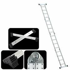 155ft 16 Step Platform Multi Purpose Aluminum Folding Scaffold Ladder 330lbs
