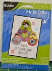 """Bucilla My 1st Stitch Cross Stitch Kit 5""""x7"""" """"Home Is Where Your Mom Is"""""""