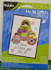 Bucilla My 1st Stitch Counted Cross Stitch Kit (13cm by 18cm ) 46041 Home Is WH