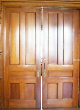 Antique Eastlake Pocket Doors Oak one side - Cherry the other side