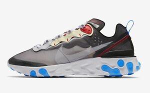Nike React Element 87 UK 6 EUR  40 Dark Grey Pure Platinum New AQ1090 003