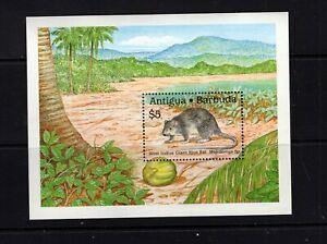 Antigua #1237  (1989 Giant Rice Rat sheet)  VFMNH  CV $8.50