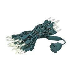 35 Light T5 LED Christmas Mini Light Set, Green Wire, 11.5' Long