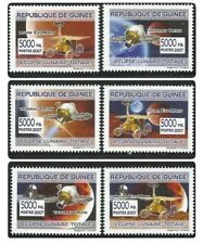 Rep. Guinee - 2007 6v. MNH Space Moon Exploration / Eclipse Satellites