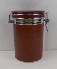 CIGAR HUMIDOR - LEATHER WRAPPED ROUND CAN CIGAR HUMIDOR - DON DIEGO