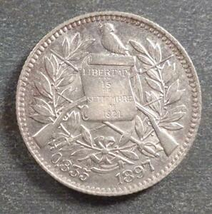 Guatemala, Silver 1 Real, 1897, lustrous