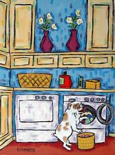 """Wash Day By Doug Knutson Old Time Laundry Day   Print  14/"""" x 10/"""""""