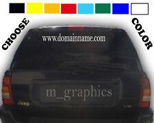 "22"" x 5"" website domain name vinyl decal 1 color"