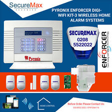 PYRONIX ENFORCER DIGI-WIFI KIT-3 WIRELESS HOME ALARM SYSTEMS UK SELLER