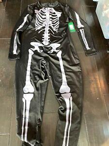 Tipsy Elves Women's Skeleton Halloween Costume Bodysuit w/ Back Large free SHIP