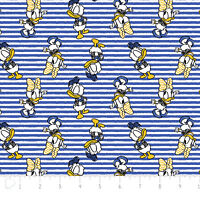 Disney Daisy & Donald in Royal Blue Camelot 100% cotton fabric by the yard