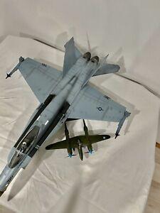 HUGE RARE Elite Force F-18 HORNET KITTY HAWK 1:18 JSI Navy Fighter Model VFA-190