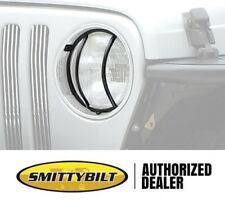 Smittybilt Euro Head Light Guards 97-06 Jeep Wrangler 5660 Black